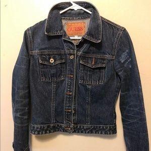 Guess dark denim jacket size medium